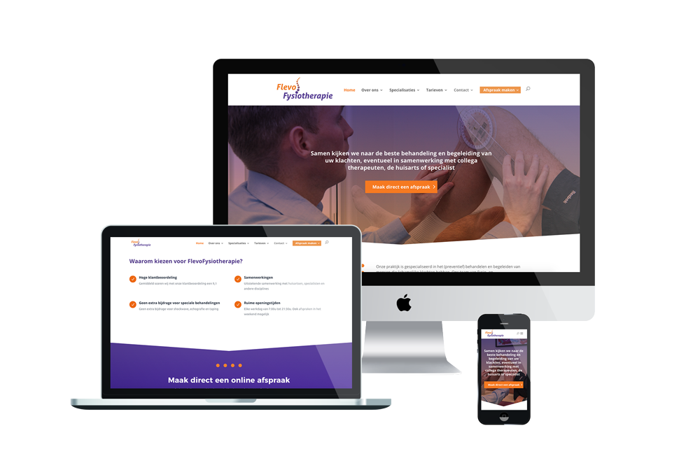 Website FlevoFysiotherapie